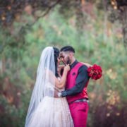 Bride and Groom Outdoor Wedding