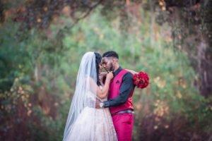 Bride and Groom Outdoor Wedding