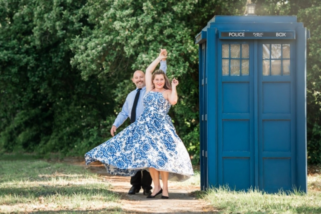 Engagement session, Doctor Who Wedding Photography