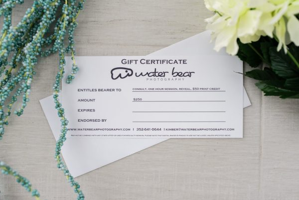 Water Bear Photography Gift Certificate