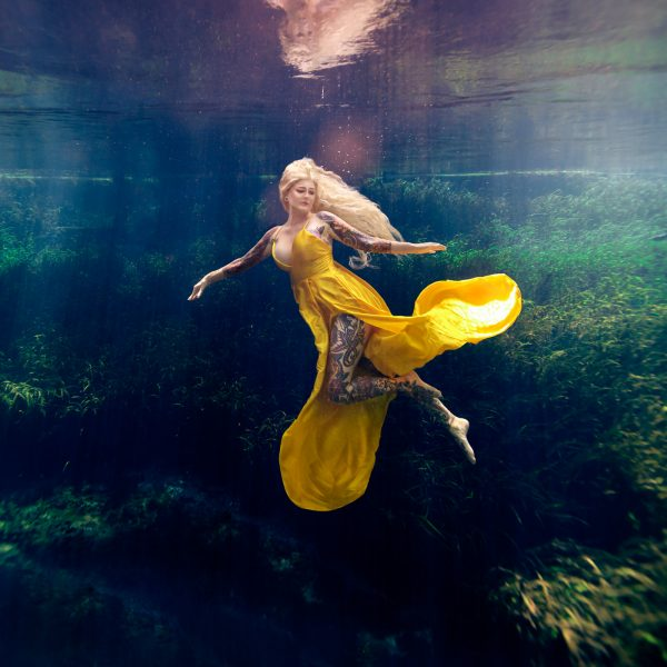 underwater portrait art photographer - water bear photography - gainesville florida