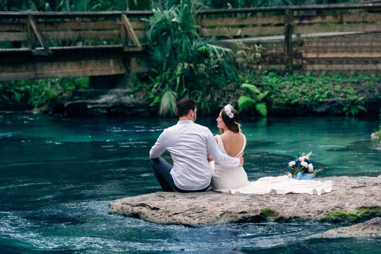 Wedding Photography Shoot at Kelly Rock Springs in Apopka Florida