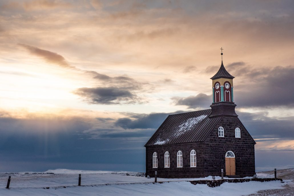 Black Church, Reykjavik Iceland, Travel Wedding and Elopement Photography