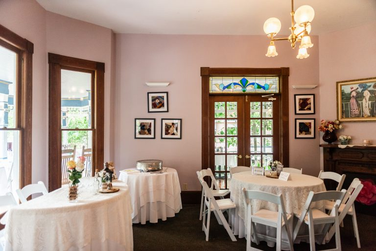 smaller reception area in victorian building at sweetwater branch inn in gainesville florida