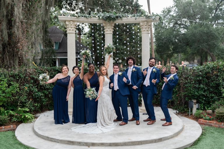 wedding party formals at the columns at sweetwater branch inn gainesville florida