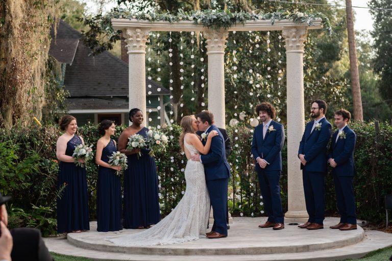 wedding ceremony columns sweetwater branch inn gainesville florida