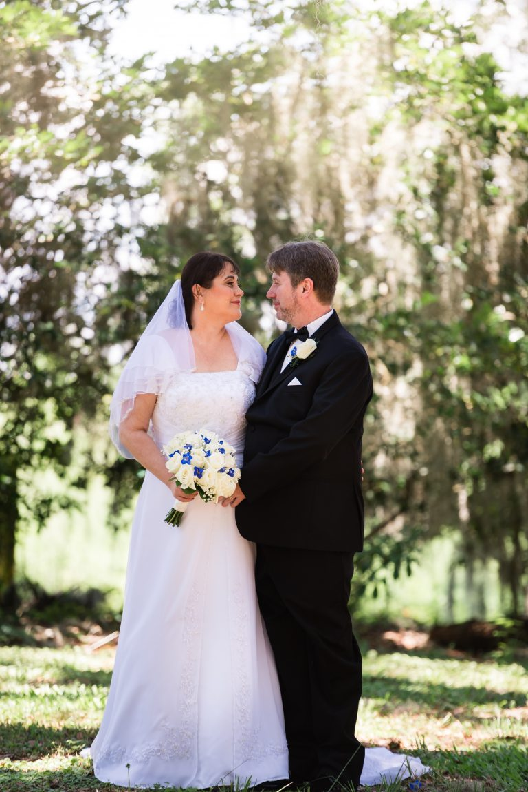 Bride and Groom First Look Outdoors Gainesville Florida