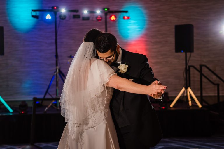 Bride and Son Dance at Wedding Reception at the Hilton Hotel, University of Florida Gainesville
