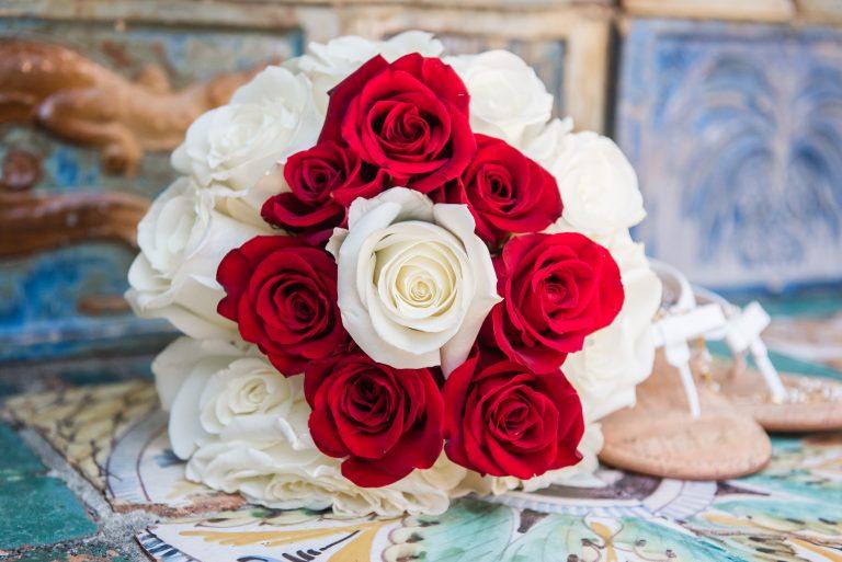 rose wedding bouquet beach wedding florida