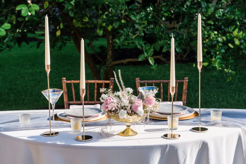 wedding reception table setting from Mercer & Smith in gainesville florida