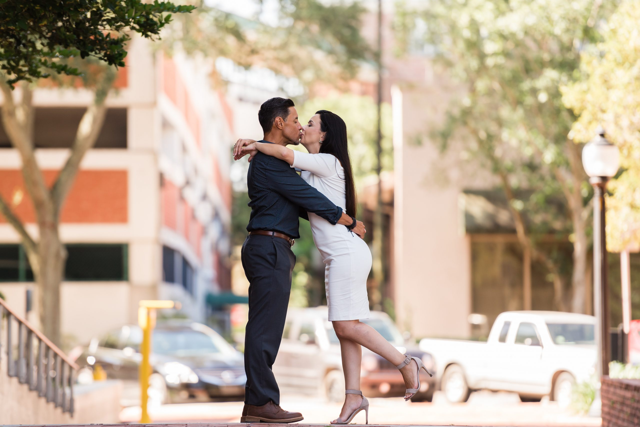 Elopement photos in downtown Gainesville Florida