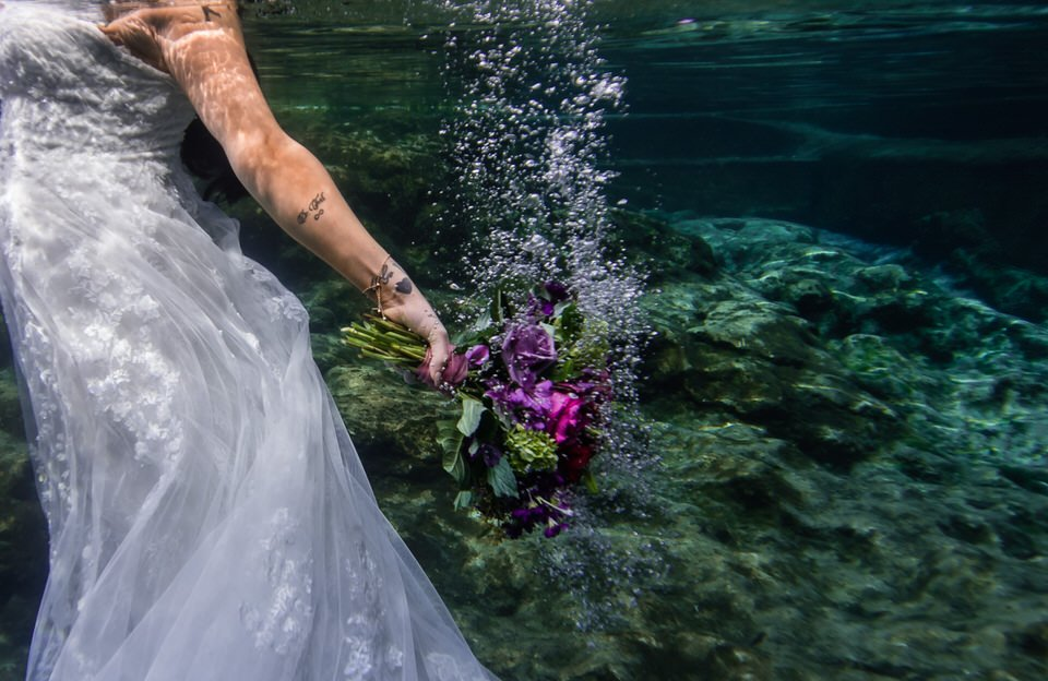 underwater elopement during COVID-19 pandemic at Ichetucknee Springs State Park in Fort White Florida