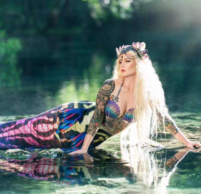 Florida Springs Mermaid Portrait Photography gainesville florida water bear photography