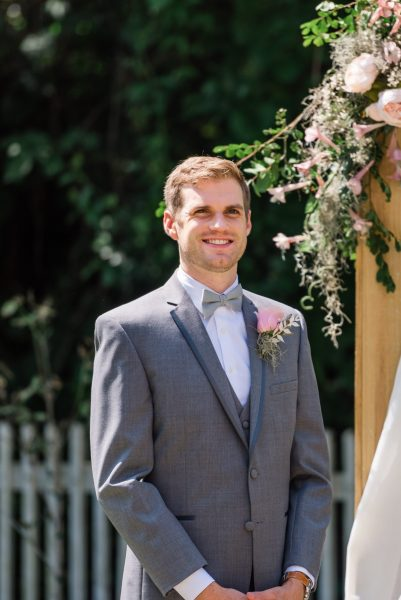 Groom's dove gray suit from allure bridal in gainesville florida